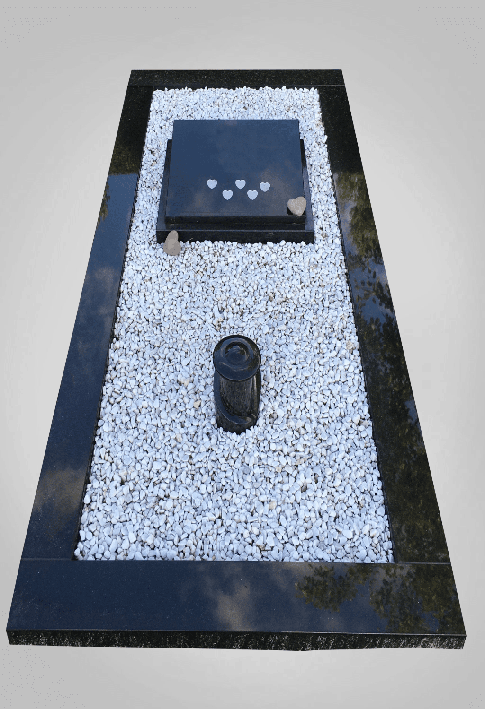 Liggende grafsteen model 6 Ewijkgrafstenen.nl