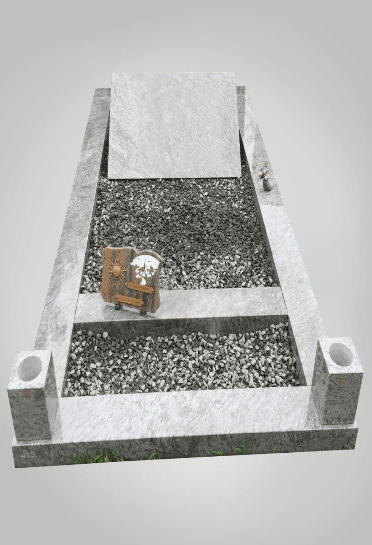 Liggende grafsteen model 8 Ewijkgrafstenen.nl