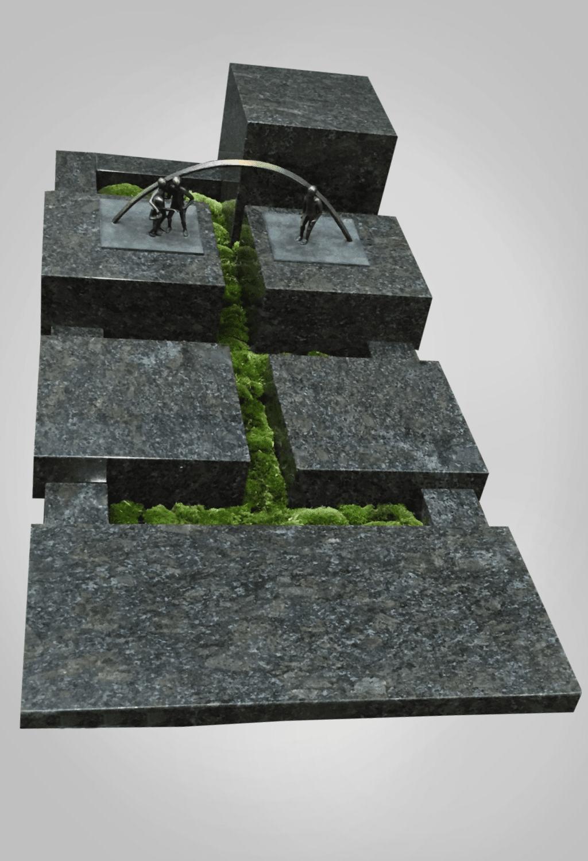 Liggende grafsteen model 1 Ewijkgrafstenen.nl