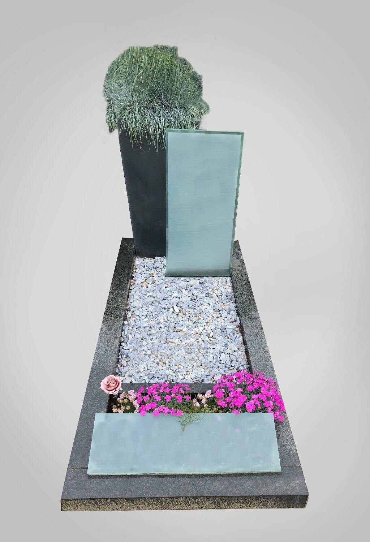 Moderne grafsteen model 6 Ewijkgrafstenen.nl