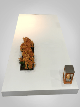 Witte grafsteen 2