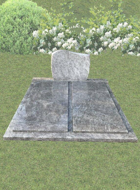 Dubbele grafsteen