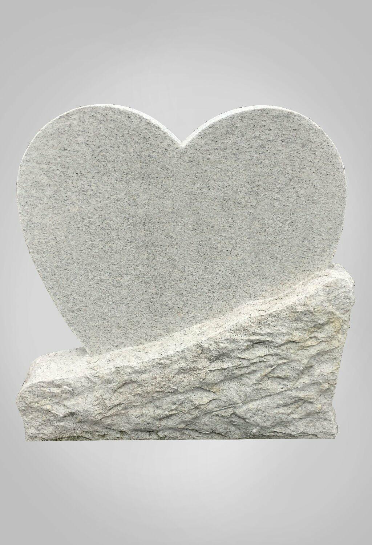 Hartvormige grafsteen