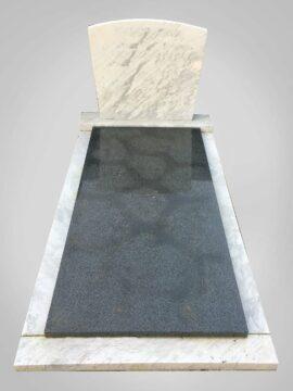 Witte grafsteen