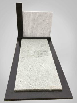 Witte grafsteen 8