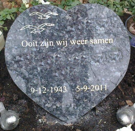 Geplaatste urnengrafsteen Cothen